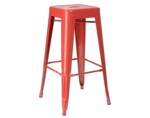 Ghế bar sắt màu đỏ