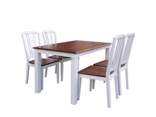 Bộ bàn ăn Calgary Dining dài 1m6 4 Ghế