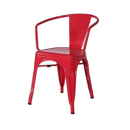 Ghế nhựa tựa lưng màu đỏ