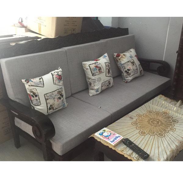 bộ đệm cho ghế gỗ màu xám nhạt