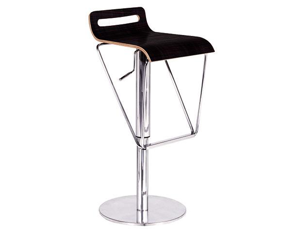 Ghế bar đen chân inox