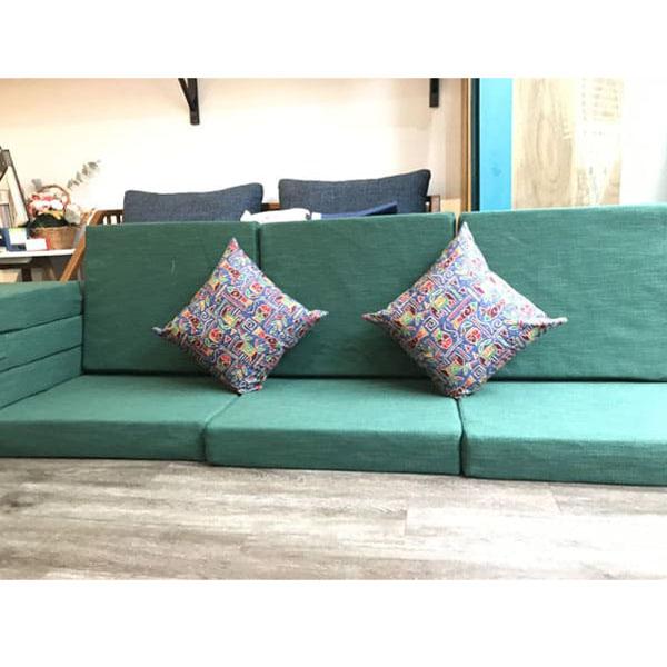 làm đệm cho ghế gỗ màu xanh ngọc