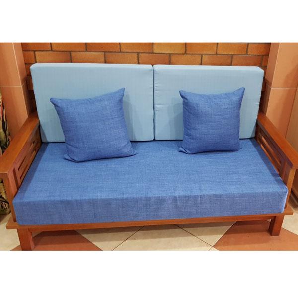 bộ đệm cho ghế gỗ màu xanh biển