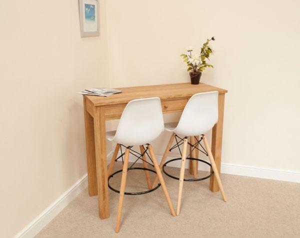 Ghế gỗ chân cao màu trắng