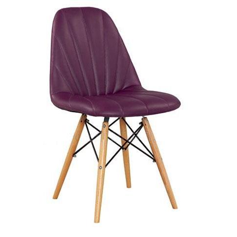 Ghế cafe tựa màu tím chân gỗ