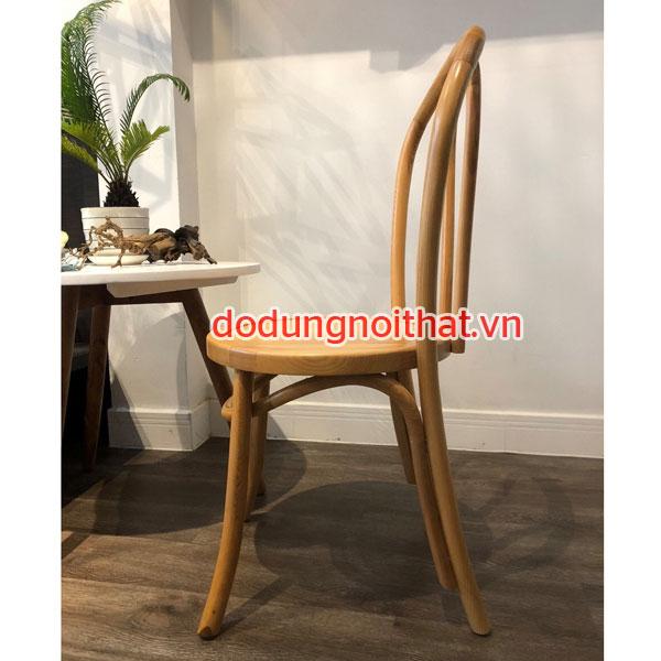 ghế gỗ mặt ngồi hình tròn có tựa lưng