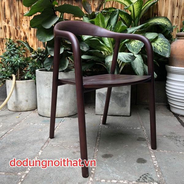 ghế gỗ cho bàn ăn dài không có đệm lót