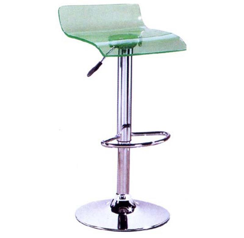 Ghế bar nhựa xanh lá trong