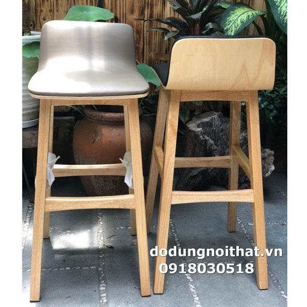 bán ghế quầy bar chân gỗ có đệm lót