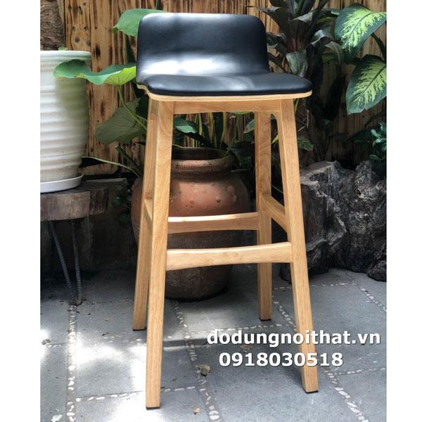 mẫu ghế quầy bar chân gỗ đẹp màu đen