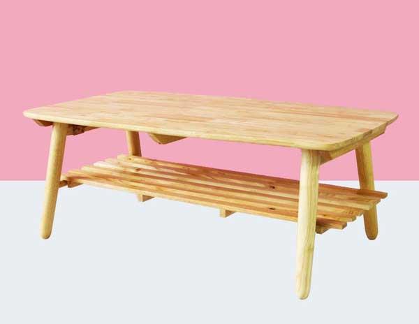Bàn gỗ cao su xếp gọn giá rẻ