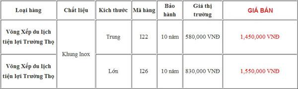bang-gia-vong-xep-du-lich-truong-tho-khung-inox