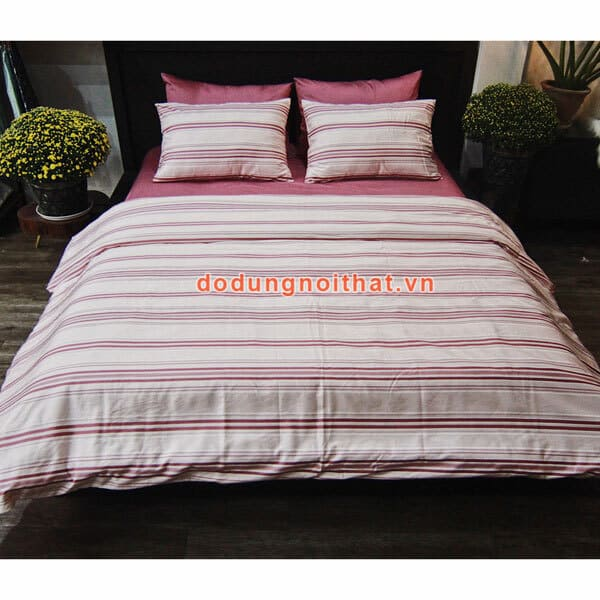 bộ chăn ga gối đệm màu hồng phấn đẹp