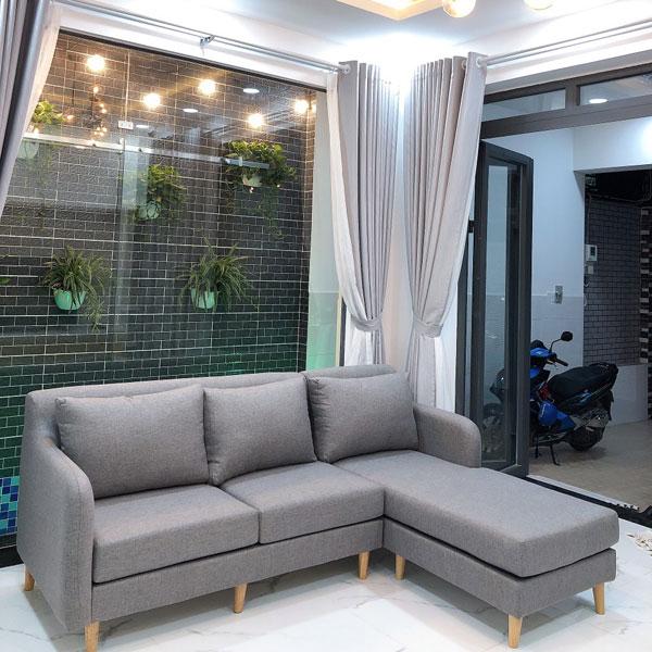 Ghế sofa hiện đại 2m2 màu xám