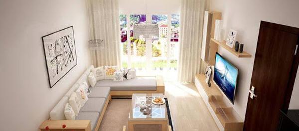 Vẻ đẹp và thẩm mỹ phòng khách kệ, tủ, tivi