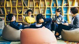 Chọn mua ghế lười hạt xốp ghế lười sofa cho dân văn phòng