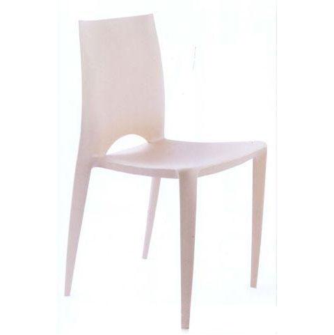 Ghế cafe tựa màu trắng