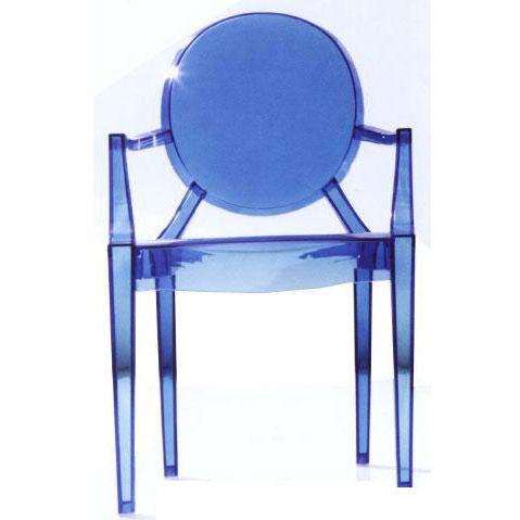 Ghế cafe tựa màu xanh nhựa trong