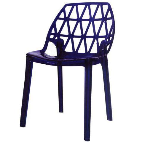 Ghế cafe tựa màu xanh đen