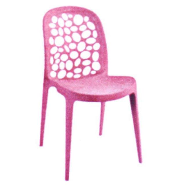 Ghế cafe tựa màu hồng