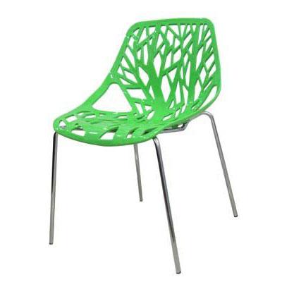 Ghế cafe tựa màu xanh lá