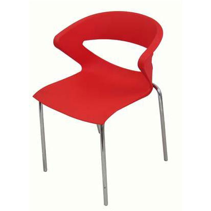 Ghế cafe tựa màu đỏ