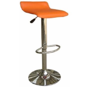 Ghế quầy bar màu cam inox