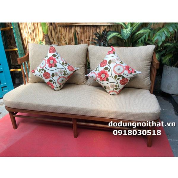 bộ bàn ăn ghế gỗ sofa có đệm lót dày gối tựa lưng