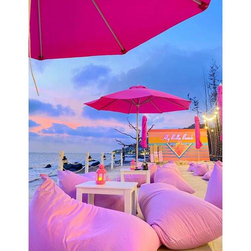 Ghế lười hình thuyền resort