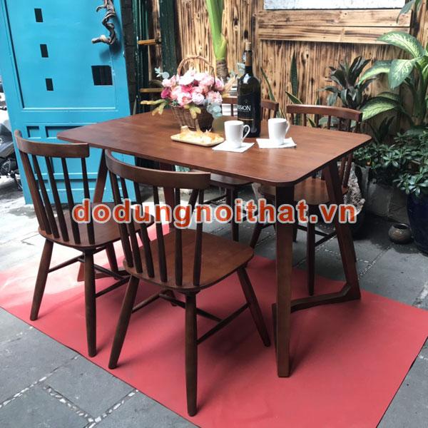 bộ ghế gỗ bàn ăn bằng gỗ tự nhiên 4 chỗ
