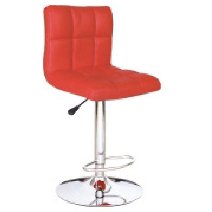 Ghế quầy bar màu đỏ không tay