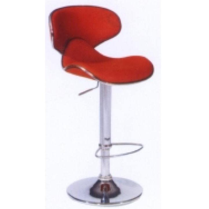 Ghế bar cao màu đỏ