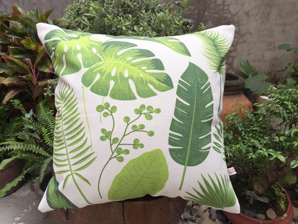 Gối sofa chiếc lá
