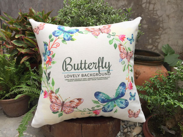 Gối sofa hình con bướm
