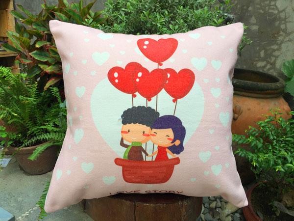 Gối sofa cặp đôi trái tim