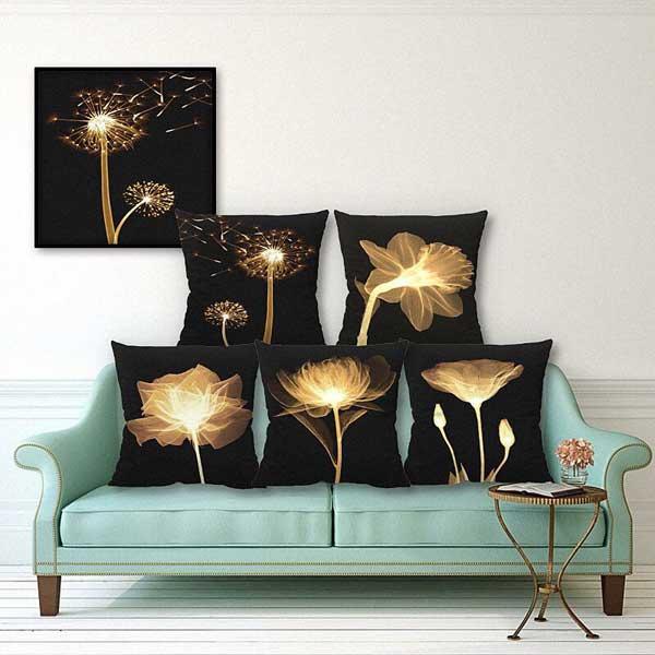 Bộ gối tựa sofa hình nghệ thuật