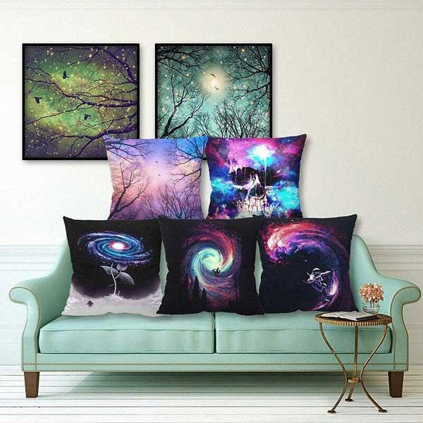 Bộ gối tựa sofa vũ trụ