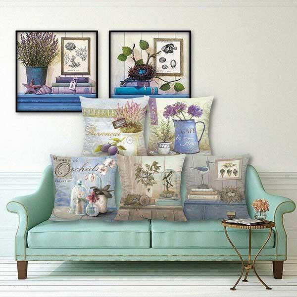Bộ gối tựa sofa thiên nhiên