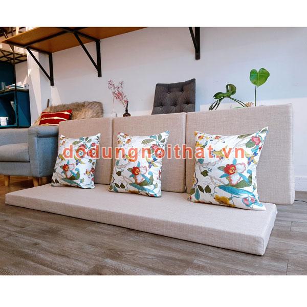 may bộ nệm cho ghế gỗ phòng khách