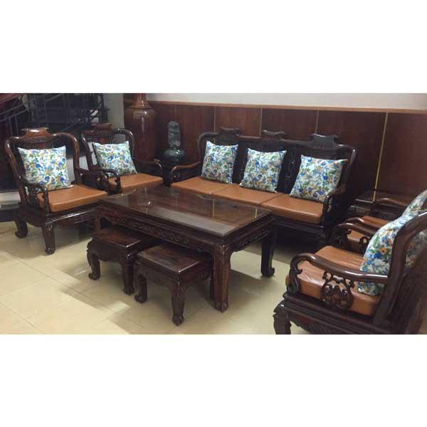 bộ nệm ghế gỗ simily phòng khách