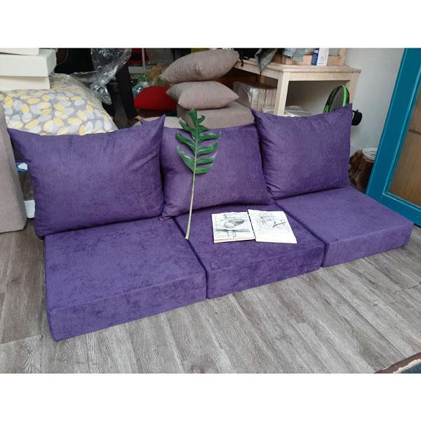 may nệm sofa dày màu tím