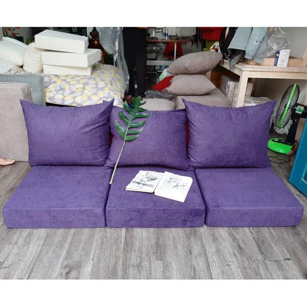 may nệm sofa màu tím