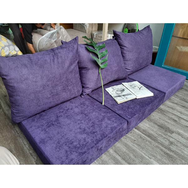 may nệm sofa cao cấp màu tím