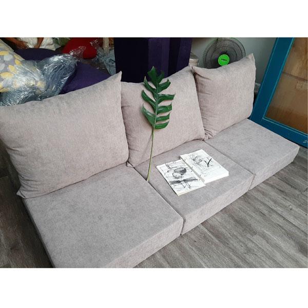 làm nệm sofa cao cấp màu tro