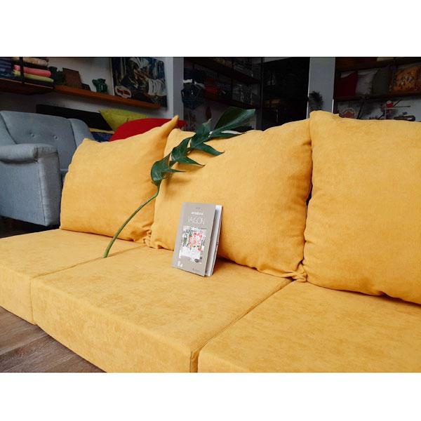 bộ nệm dày cho ghế gỗ màu vàng đẹp
