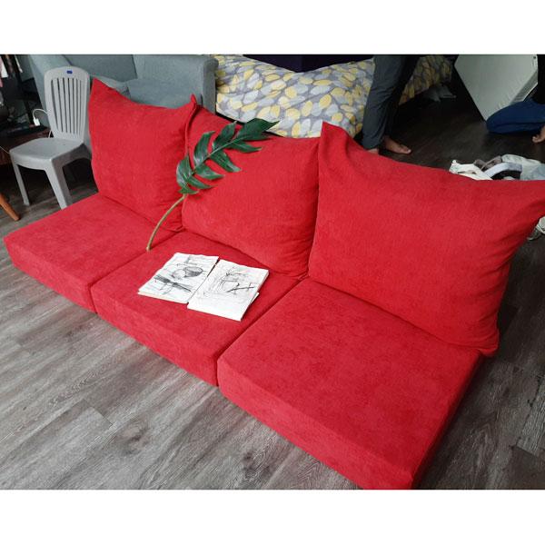 bộ nệm ghế màu đỏ cao cấp