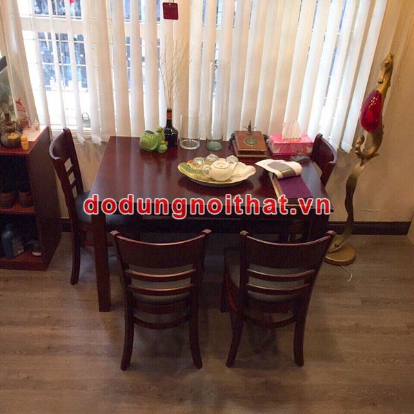 bộ ghế gỗ bàn ăn giá rẻ cho gia đình bằng gỗ
