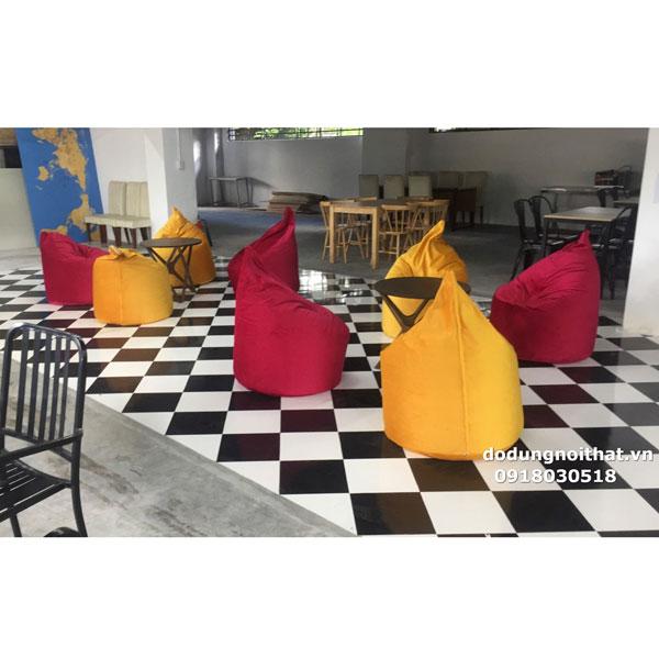 bán ghế lười hạt xốp quán cafe