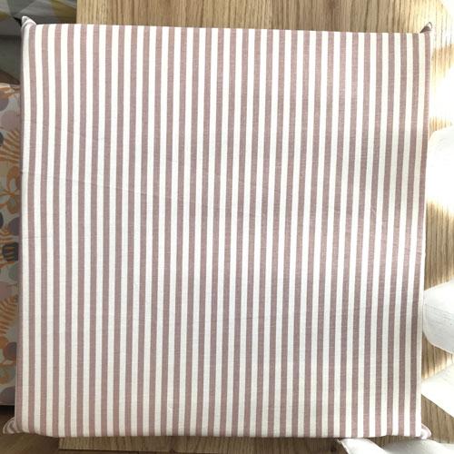 Nệm vải cao cấp sọc trắng nâu