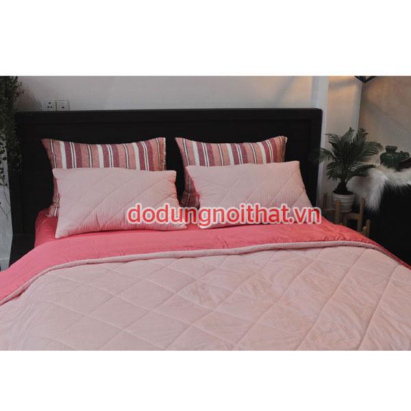 bán chăn ga gối nệm của hàn quốc đẹp rẻ màu hồng phấn
